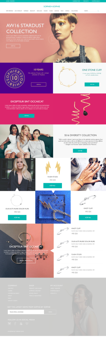 Sophie by Sophie – eCommerce (2016)