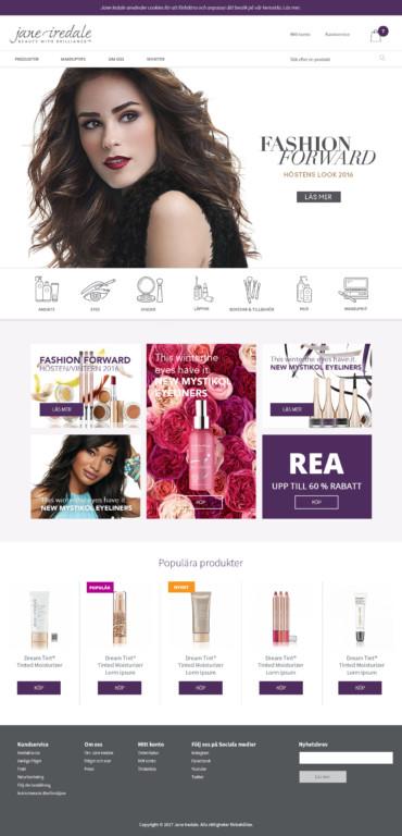 Jane Iredale E-handel (Pågående 2017)